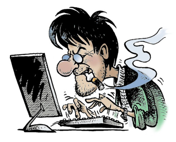 pisatel-karikatura